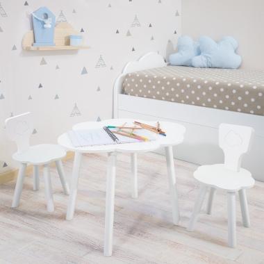 Mesa y sillas infantiles nube