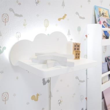 Estante de pared infantil Nube con Luz