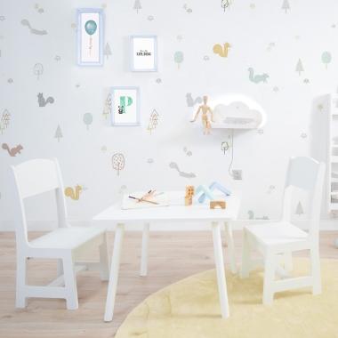 Mesa y Sillas infantiles Montessori