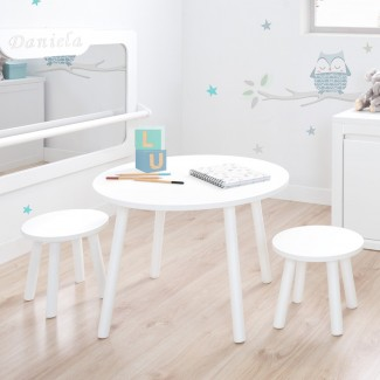 Juego de Mesa y sillas Blancas