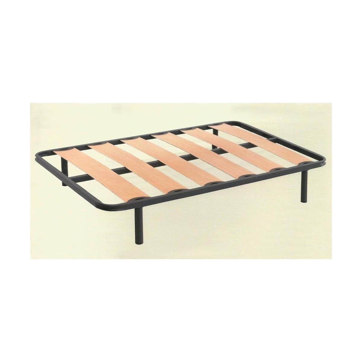 Somier de laminas con patas 90 x 190 cm   bainba.com