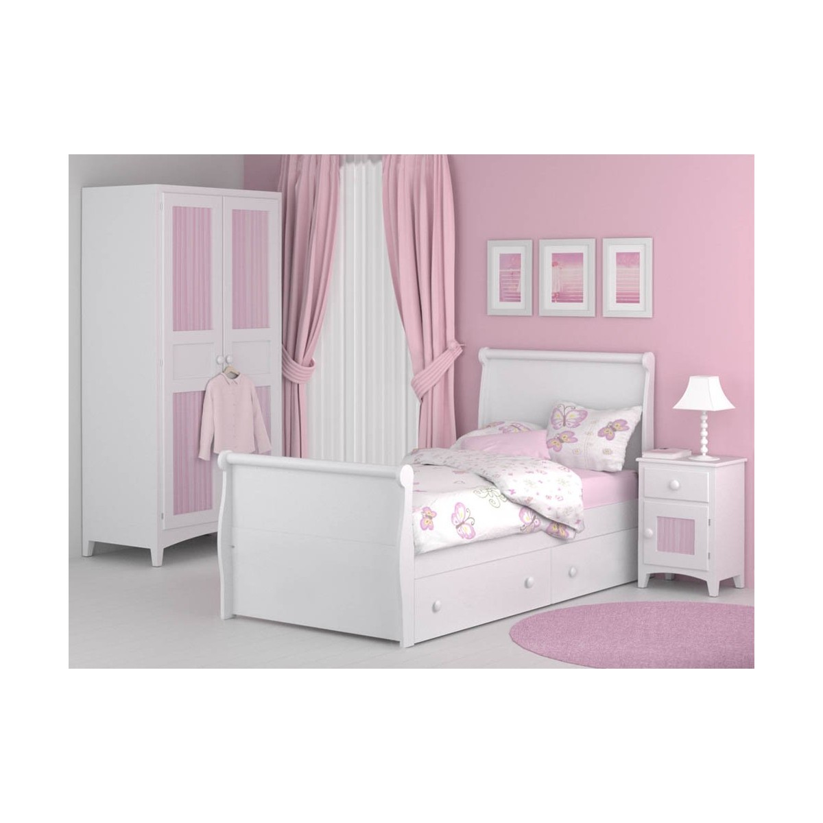 cama infantil diana con cajones