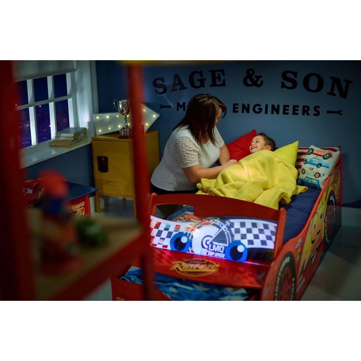 Cama coche cars disney con luz env o 24h gratis - Cama infantil cars ...