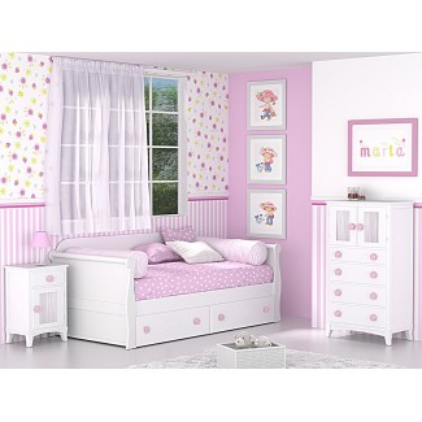 le lit de la chambre de Gondola enfant avec tiroirs
