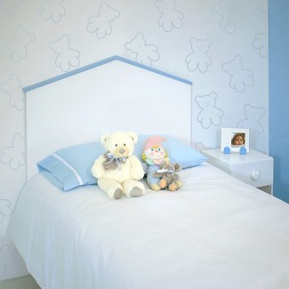 Children's Headboard Blue House