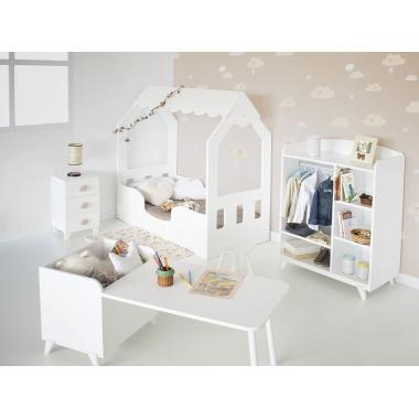 Dormitorio infantil Montessori Casita Con Armario