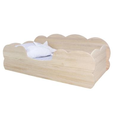 Cama Montessori Nube en madera natural