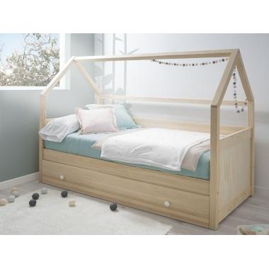 Cama casita infantil con nido