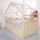 Cama nido Casita  de madera