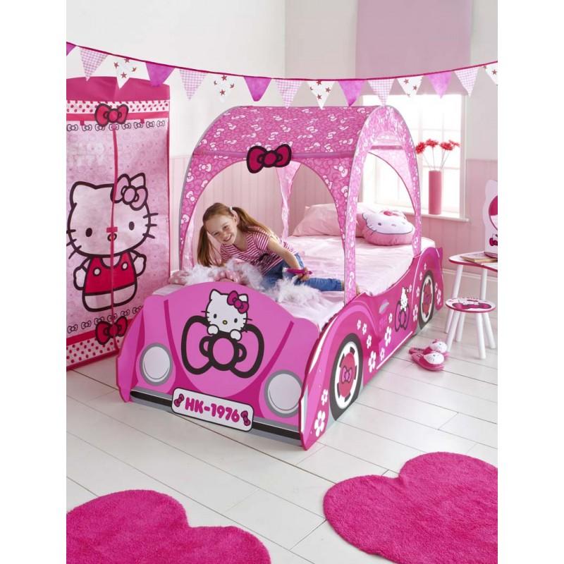 cama-infantil-coche-hello-kitty-140-x-70cm-somier-incluido
