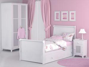 Cama nido para niña Diana rosa