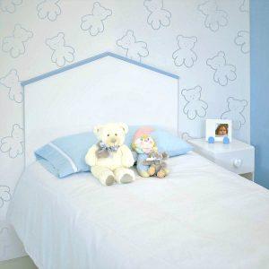 Cabecero Infantil Casita Azul barato