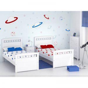 Dormitorio infantil dos camas Estrella