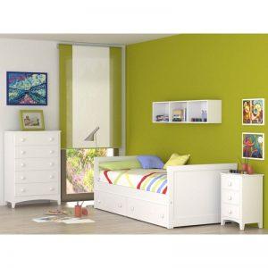 Dormitorio infantil Recto Cama con cajones