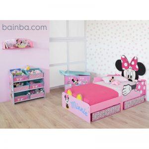 Habitación para niñas Minnie Mouse con cajones