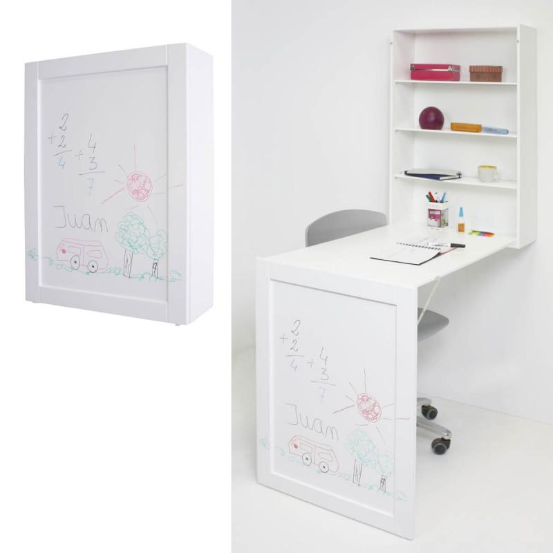 Mesa pared infantil con pizarra para habitaciones Montessori