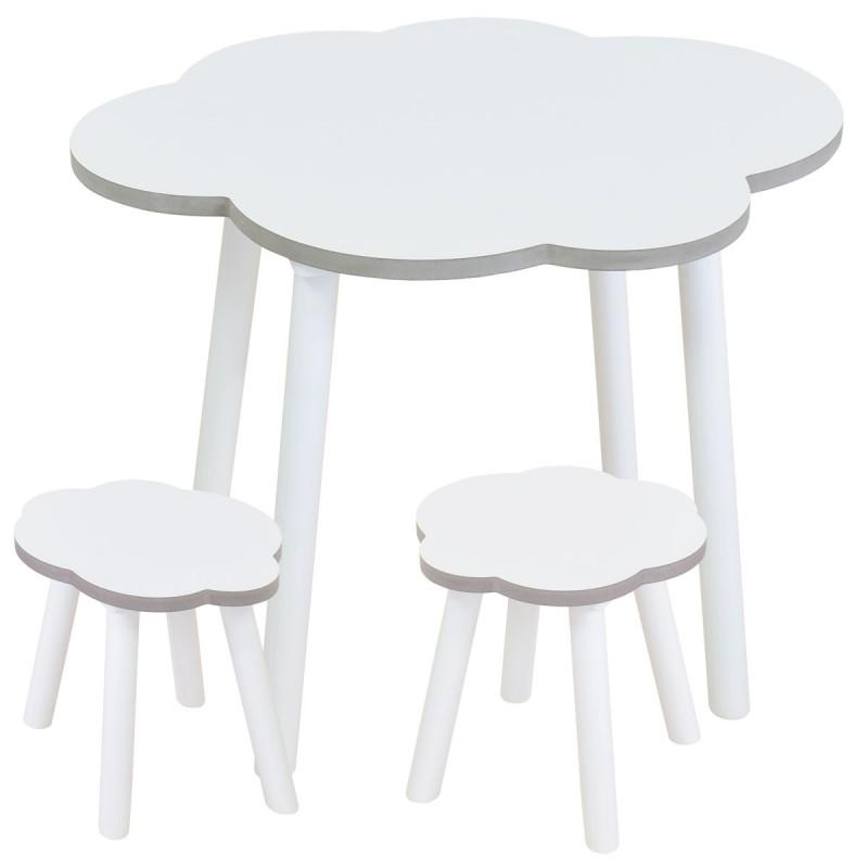 Mesa y sillas Nube Blanca