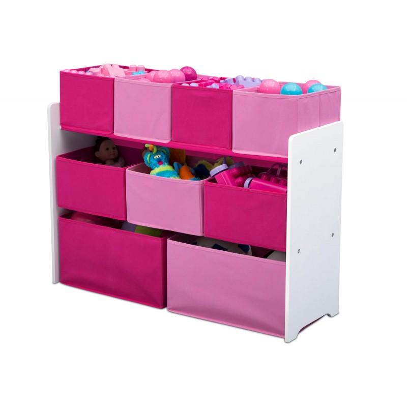 Organizador de juguetes rosa