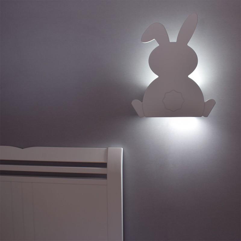Iluminación quitamiedos lámpara de pared conejo