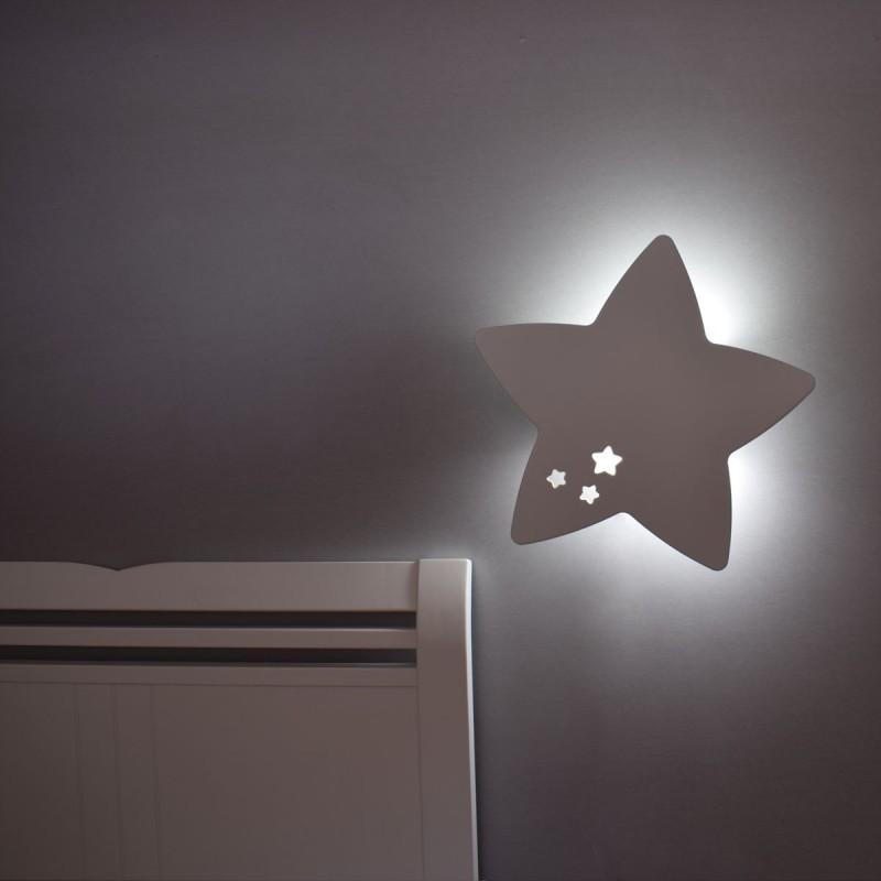 Iluminación quitamiedos lámpara de pared estrella