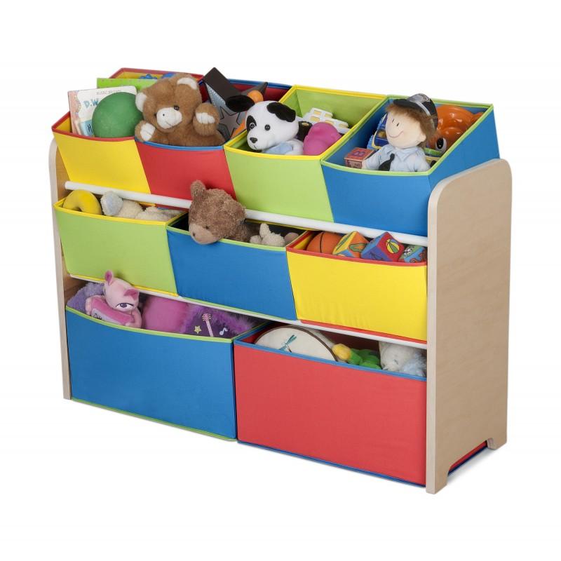 Organizador de juguetes de colores