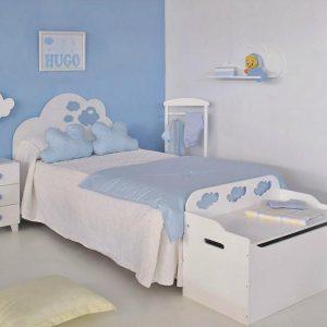 Pintar las habitaciones infantiles de un niño con tonos azul y blanco