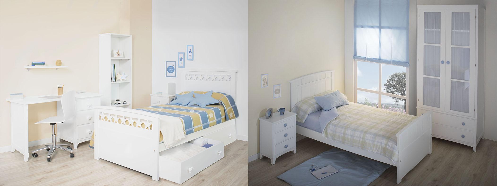 Cama infantil Nido Estrellas y cama curvo