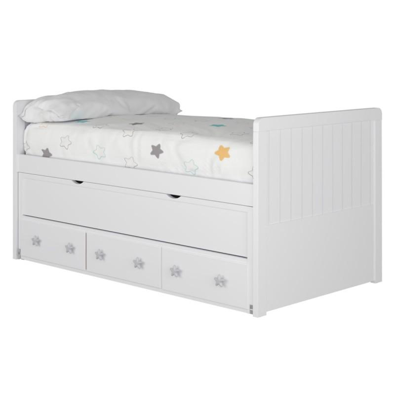 Cama compacta para la habitación de un niño