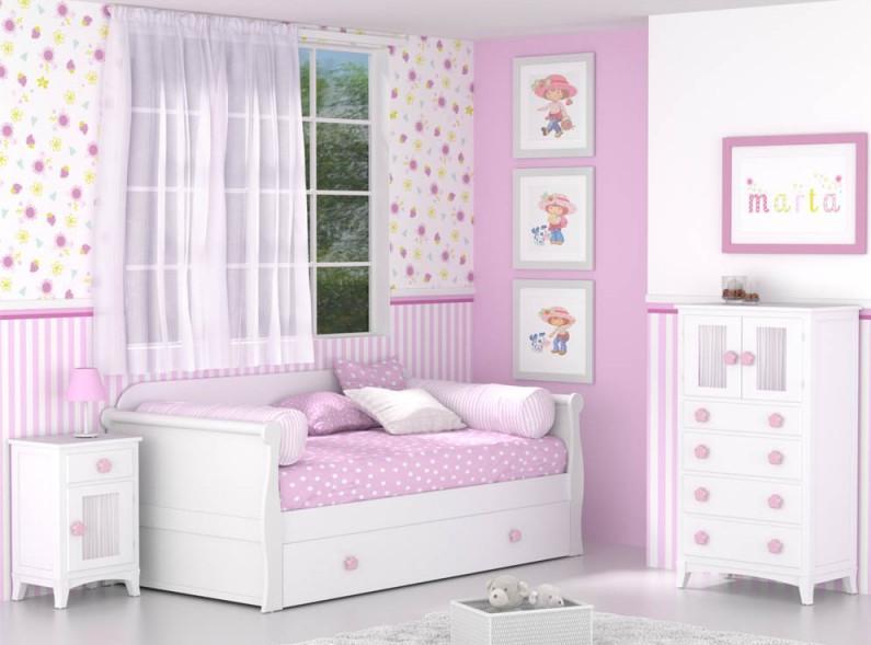 Dormitorio infantil blanco Góndola Nido