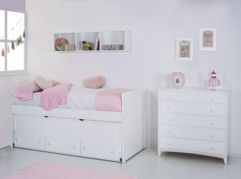 Dormitorio infantil compacto recto