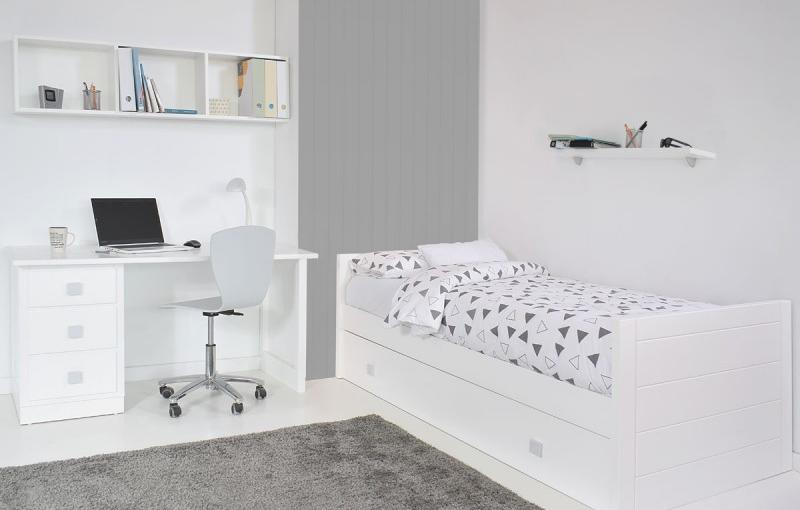 Dormitorio infantil Estrella con tonos grises