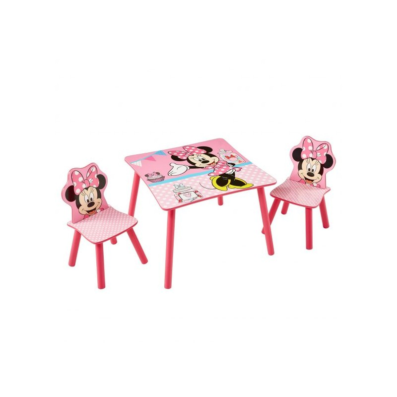 Mesa y 2 sillas Minnie Mouse