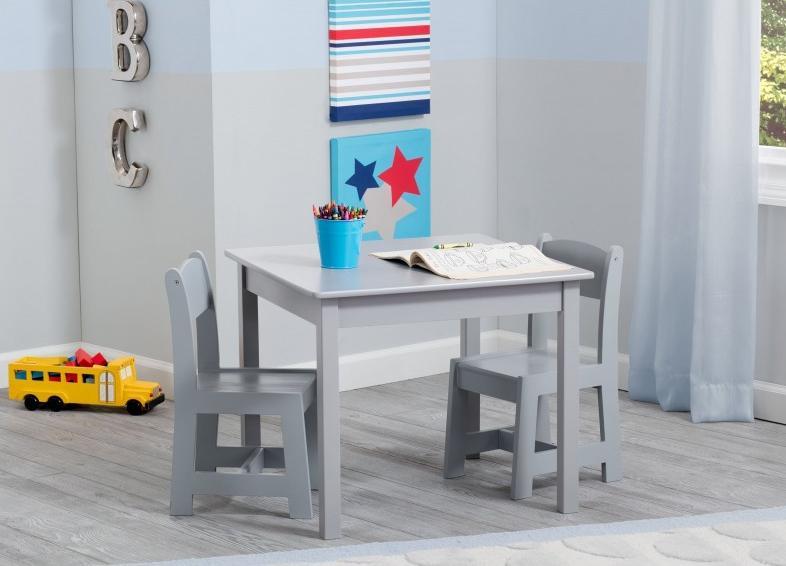 Mesa y sillas infantiles Grey