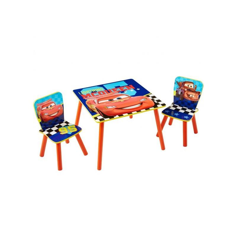 Mesa + sillas infantil Cars