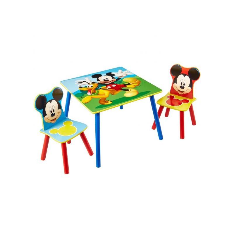 Mesa infantil con sillas Mickey Mouse