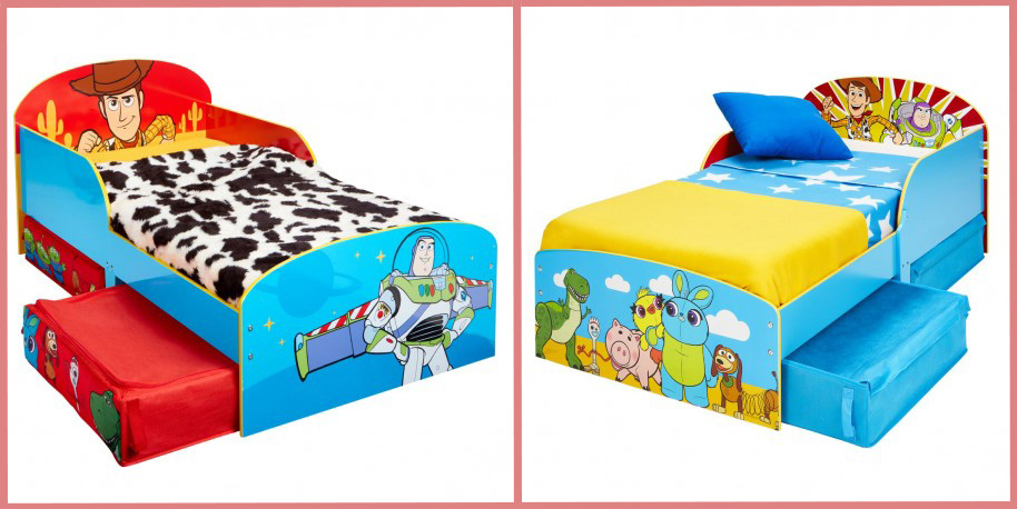 Cama infantil Toy Story y Cama infantil Toy Story con cajones. Bainba