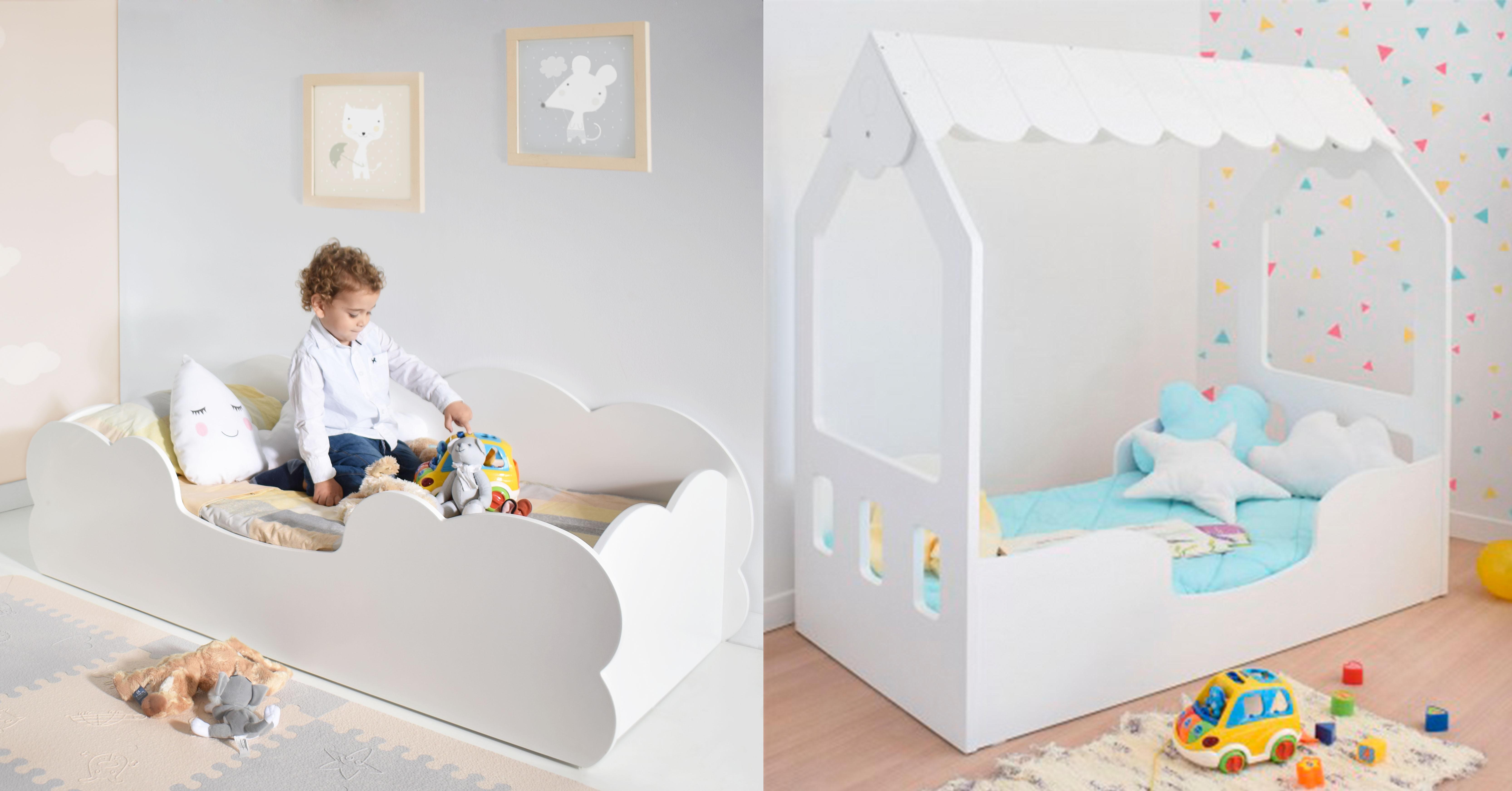 Cama infantil Montessori Nube y cama casita Montessori Bainba
