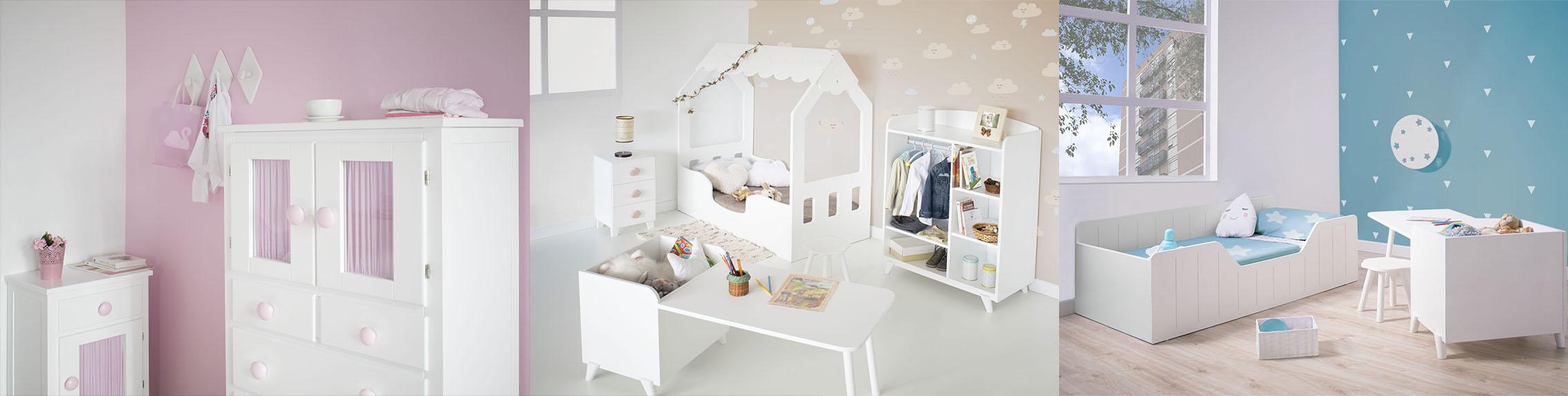 Bainba.com muebles blancos pero coloridos