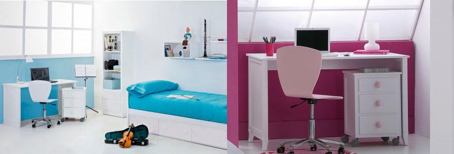 Cajonera infantil para mesa escritorio. Bainba.com