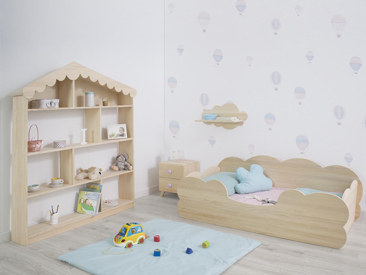 Combinación de muebles en madera maciza natural Bainba.