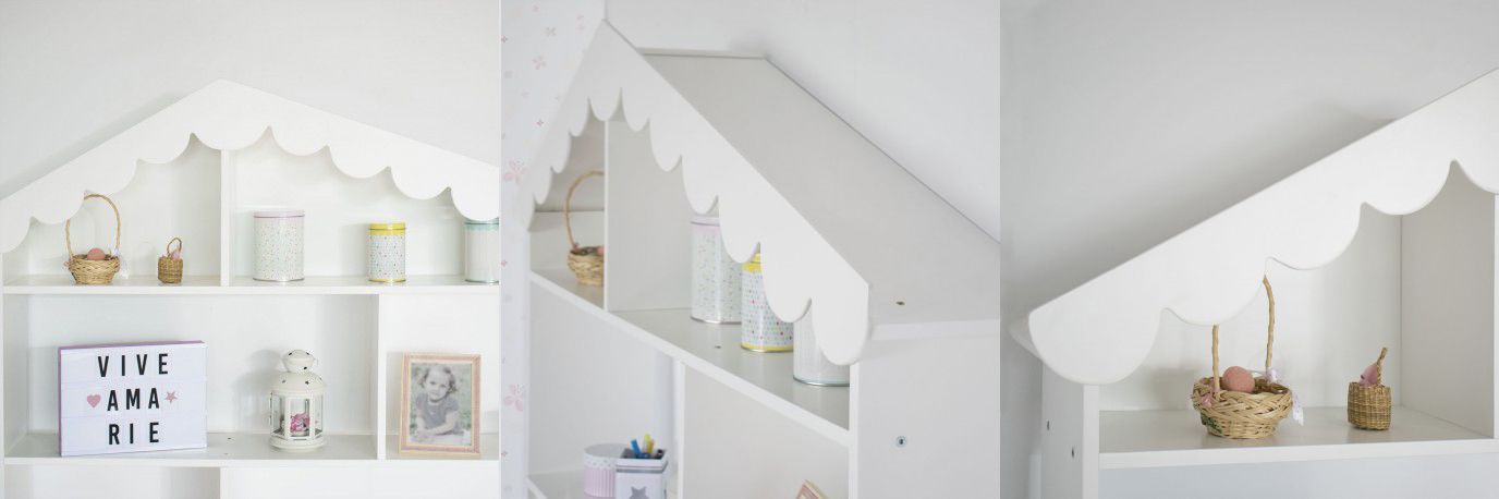 Estantería montessori Casita en lacado en blanco BAINBA